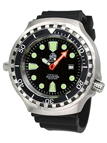 Tauchmeister Diver watch with automatic movement 1000m sapphire T0285 by Tauchmeister