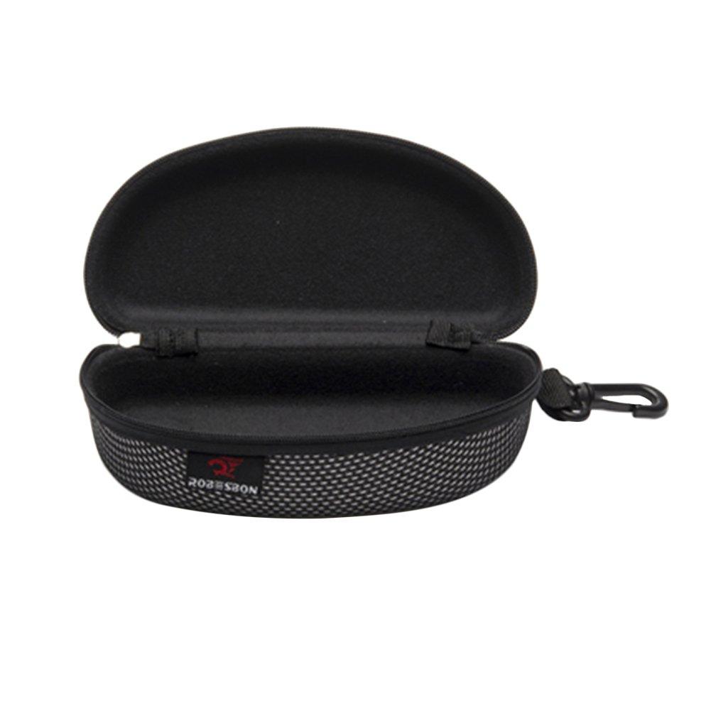 Portable Carabiner EAV Eye Glasses Sunglasses Case Box Hard Zipper Case Sunglasses Bag with Hook