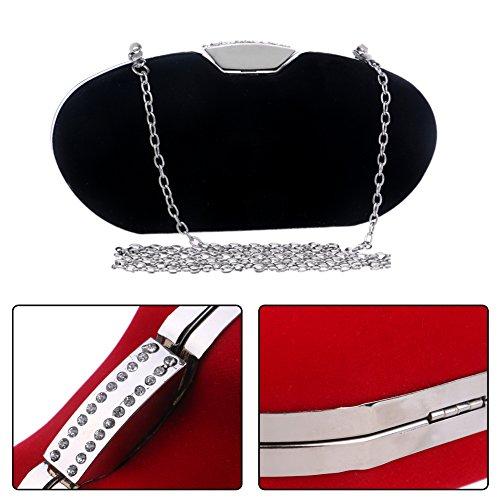 Chain PU Wallet Evening Bridal Purses Black Dress Bag Ladies Bags Shoulder Womens Clutch w4xPqZaY