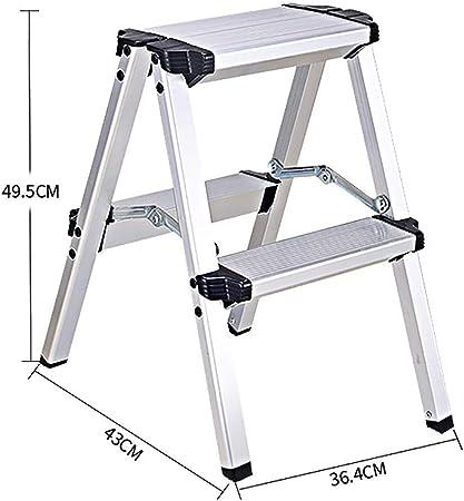 WYNZYYX Escalera Escalera Telescópica Escalera Plegable De Aluminio Escaleras Elevadoras Multifunción Escalera De Ingeniería Espesar Escaleras Plegables (Size : 2-Step Ladder): Amazon.es: Hogar