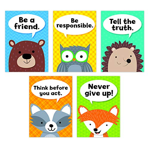 - Creative Teaching Press Woodland Friends Character Traits Inspire U 5-Poster Pack, CTP 8697