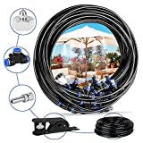 "Deyard Misting Cooling System 32.8FT(10M) with 10 Copper Metal Mist Nozzles and a Connector(3/4"") for Trampoline Patio Misting Micro Flow Watering Automatic Distribution System"