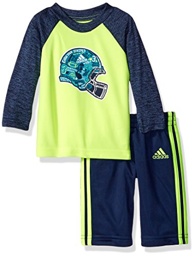 Adidas Baby Boys' Long Sleeve Tee and Legging Set, Dark Indigo Heather, 18 Months