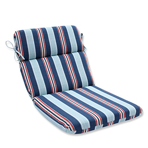Pillow Perfect Outdoor/Indoor Kingston Stripe Arbor Rounded Corners Chair Cushion (Furniture Kingston)