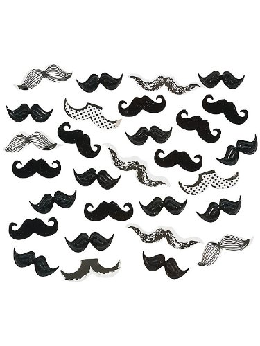 Fun Express Mustache Confetti Assorted