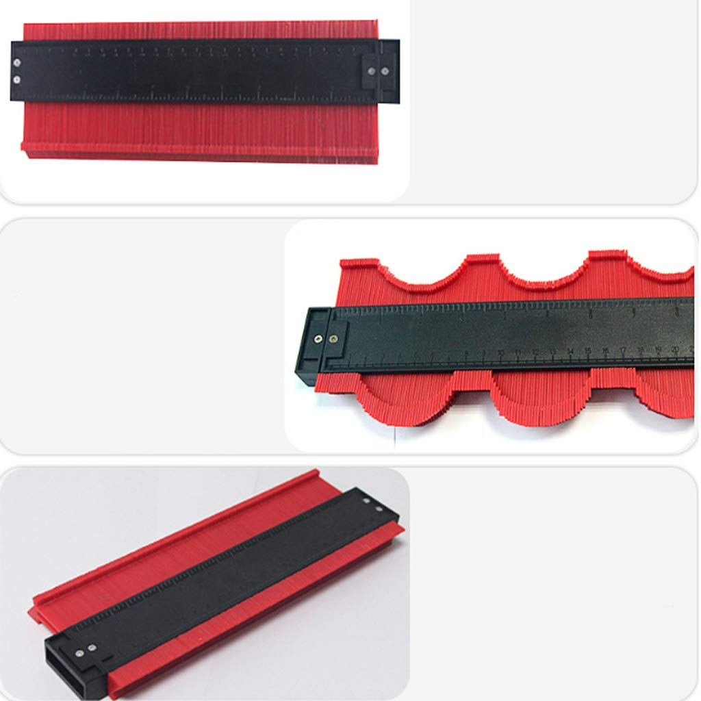 Shiwaki 275mm Unregelm/ä/ßiges Lineal Konturenlehre Konturmessger/ät Duplikator Profil Messwerkzeug Dunkelblau