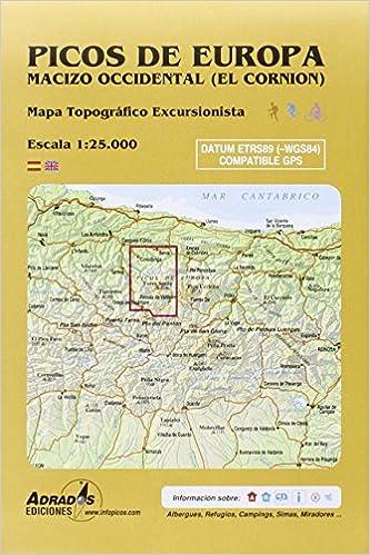 Picos de Europa. Macizo Occidental El Cornión . Mapa: Mapa ...