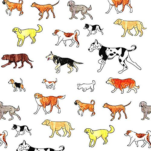 "Many Breeds - Dog Tissue Paper # 310 .10 Large Sheets 20"" x 30"""