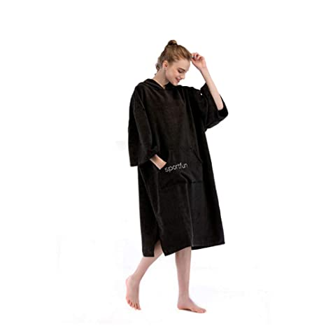 Traje de cambio de toalla Poncho Capucha, poncho, toalla de microfibra, unisex para