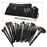 Science Purchase 78VK14322 32-Piece Black Cosmetic Makeup Brush Set with Black Bag