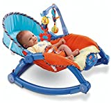 Toykart Newborn to Toddler Vibrating Rocker Chair with Calming Vibrations, Adjustable Mode,Portable