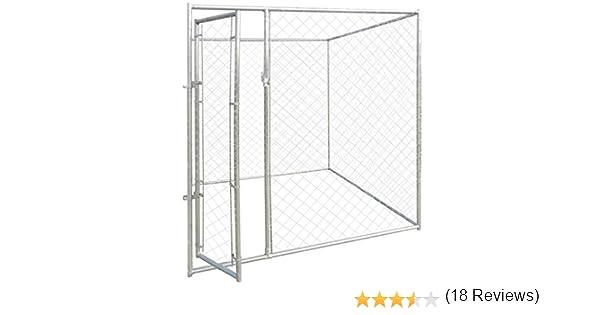 vidaXL Perrera de Exterior Acero Galvanizado y Malla 2x2x2 m Jaula de Perros: Amazon.es: Productos para mascotas