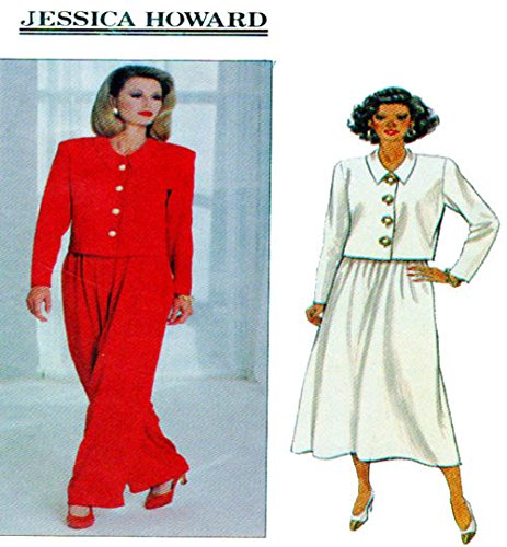 BUTTERICK 3062 MISSES' TOP, SKIRT, & PANTS (SIZE 12,14,16) JESSICA HOWARD ~ SEWING PATTERN