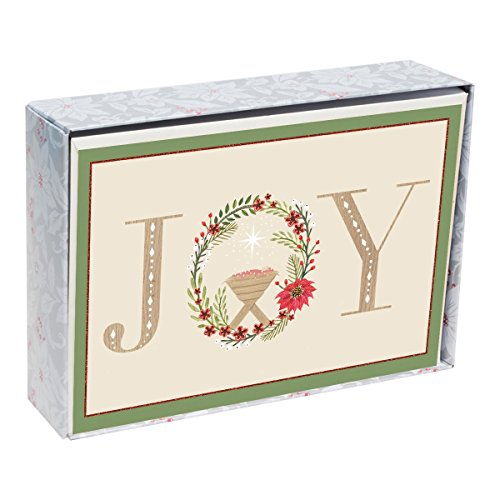 Christmas Boxed Cards - Wreath and Manger - -