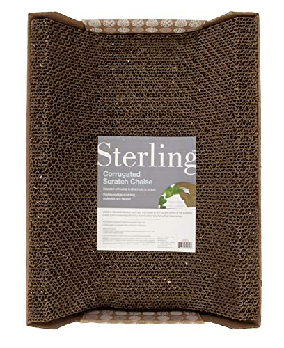(Sterling Extra Tall Corrugated Cat Scratch Chaise and)