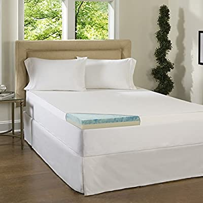 Simmons Beautyrest Comforpedic Loft from Beautyrest 3-inch Flat Select Gel Memory Foam Mattress Topper with Cover