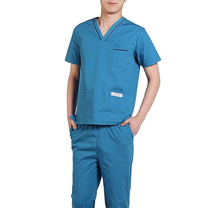 Jiyaru Uniforme Médico Ropa Enfermera Bata Médico Laboratorio Enfermera Sanitaria: Amazon.es: Ropa y accesorios