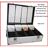 1000 CD DVD Silver Aluminum Media Storage Case Mess-Free Holder Box with Sleeves without hanger