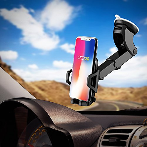 LEEIOO mount Car Phone Holder Cell Phone Cradle for iPhone 8/8s 6s Galaxy S8 Edge S6 8