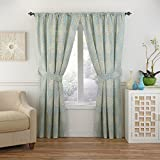 Waverly Moonlight Medallion Window Curtain, 63×52, Celestial Review