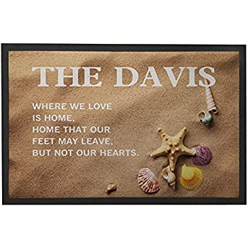 Amazon Com Custom Beach Doormat With Name Personalized