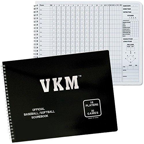 - New VKM Official Baseball Softball 16 Player (30) Game Scorekeepers SCOREBOOK