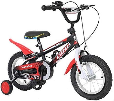 YSA キッズバイク14インチ自転車トレーニングホイール付き、3〜6歳の子供がマウンテンバイクに乗ってダンプ