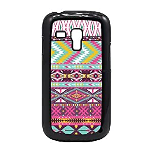 Case Fun Case Fun Pink Aztec Pattern Snap-on Hard Back Case Cover for Samsung GalaxyS3 Mini (I8190)