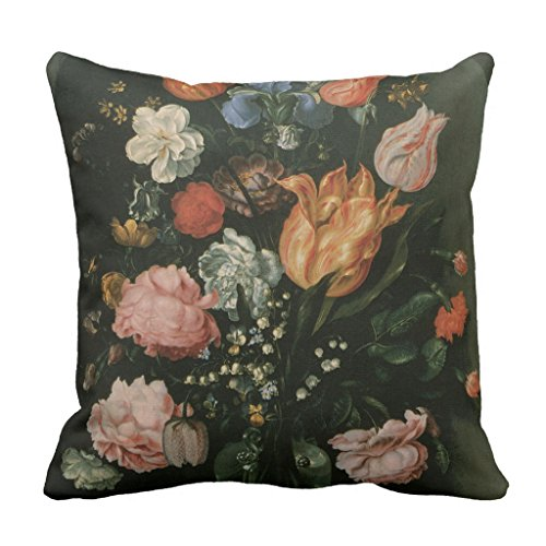 Zazzle Vintage Floral Baroque, Vase Of Flowers in a Niche Throw Pillow 16