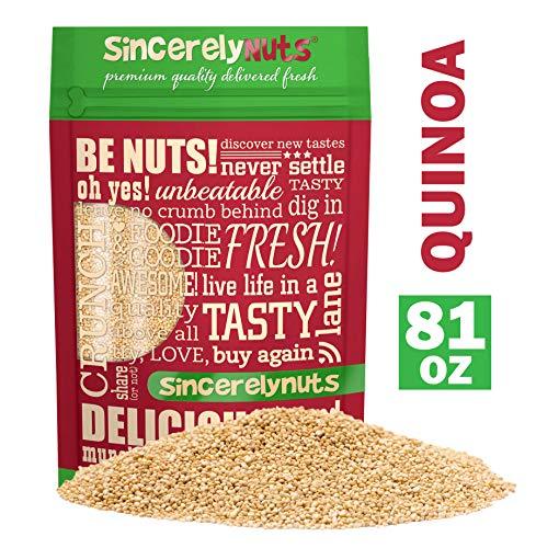 Sincerely Nuts White Quinoa (5 lb Bag) - Prewashed Peruvian Quinoa | Ancient Pseudo Grain Packed with Amino Acids, Vitamins, Minerals, Protein & Fiber | Gluten Free Super Food | Kosher, Non GMO