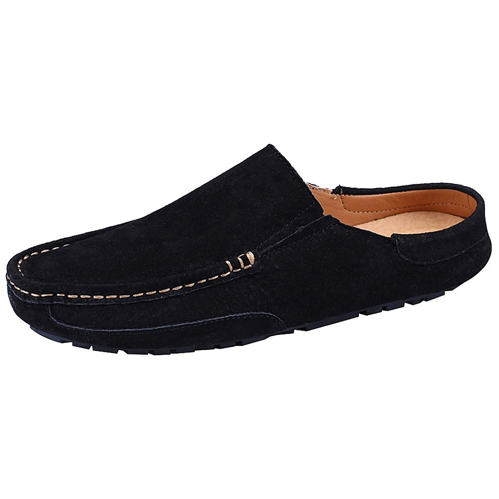 c02dc7430 Jamron Men s Comfortable Faux Leather Suede Carpet Slippers Mules Driving  Loafers Moccasins  Amazon.ca  Shoes   Handbags