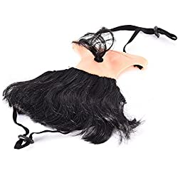 Wall of Dragon Pet Dog Cat Headwear Funny Supplies Bald Knight Funny Wig for Halloween Christmas