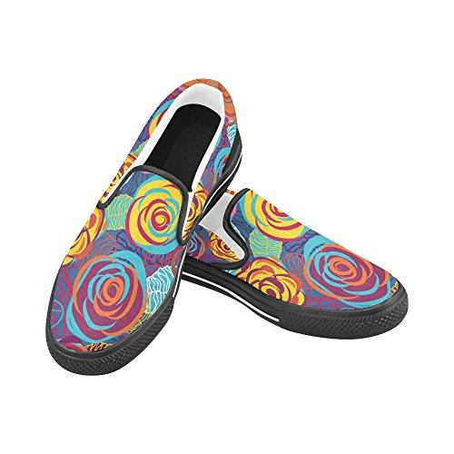 Unik Debora Anpassade Mode Kvinna Gymnastikskor Ovanliga Loafers Slip-on Tygskor Multicoloured9