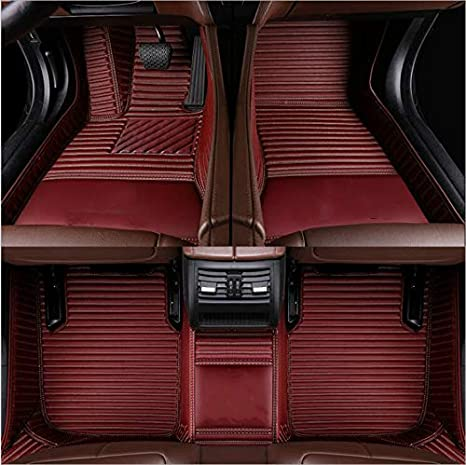 Car Floor Mat Custom Fit All Weather Waterproof Front and Rear Liners for BMW 7 Series 5 Passengers 2016(Beige)