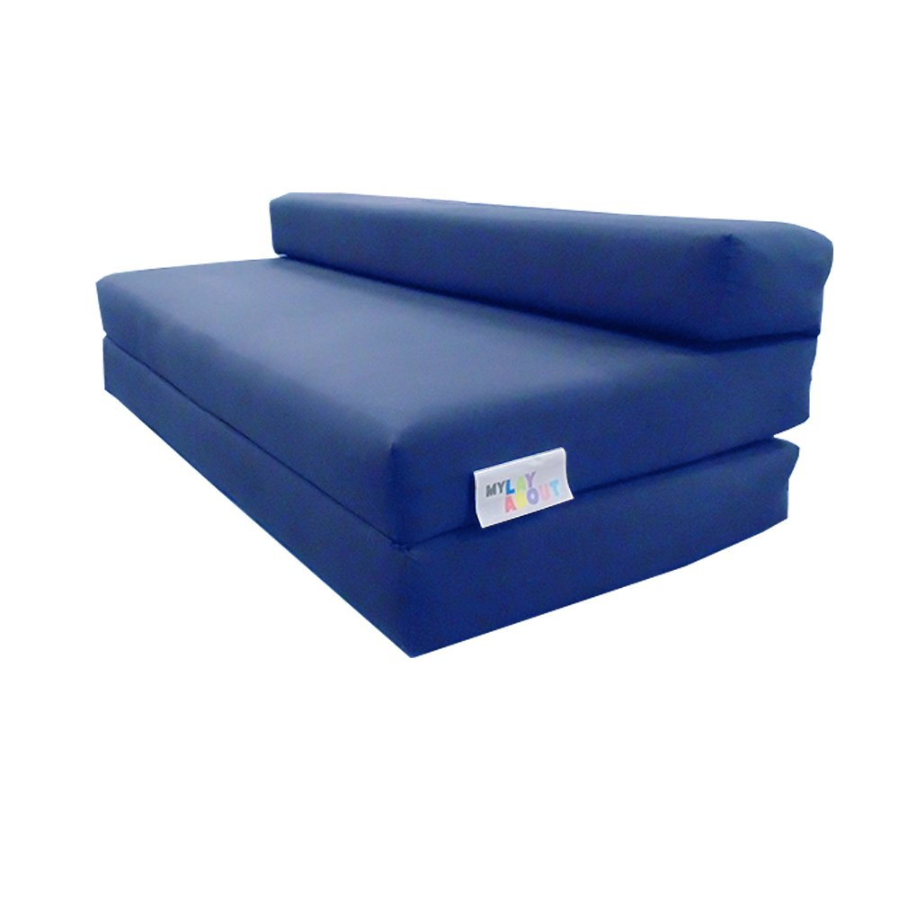 Double Z Bed / Guest Bed / Fold Out Spare Bed Sofa / Chair / Futon / Mattress | Royal Blue Carousel