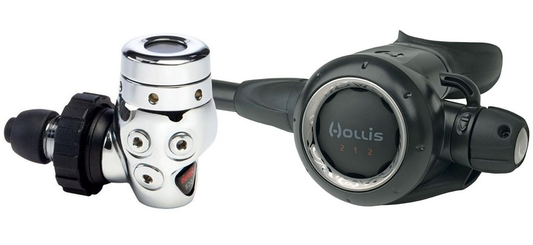 Hollis DC2/212 Regulator with 30''/76.2cm Maxflex Hose