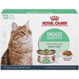 Royal Canin Feline Health Nutrition Digest Sensitive Thin Slices in Gravy Canned Cat Food (12 Pack), 3 oz
