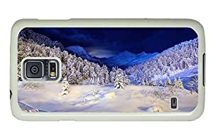 Hipster Samsung Galaxy S5 Case cool cover night winter mountain PC White for Samsung S5