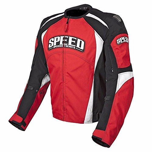 Speed and Strength Twist of Fate 3.0 Men's Textile Street Bike Racing Motorcycle Jacket - Red/Black / Large ()