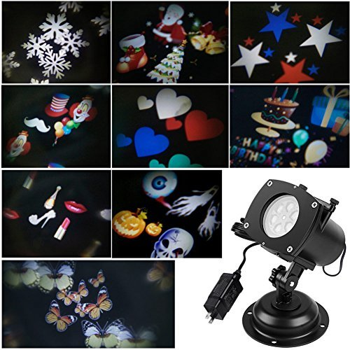 ARINO Holiday Light Projector Image Motion Projection Landscape Spotlight for Outdoor Indoor Valentine\'s Day Decoration