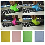 ZMAYI 4 Pack Keyboard Cleaning Gel Super Soft Sticky Keyboard Cleaner for Keyboard,Laptop,Electronics,Controller,Air Vent Instrument Fan Frame (with Microfiber Cleaning Cloths)