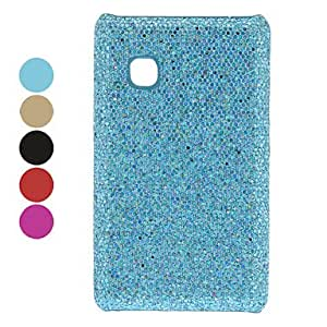 Shimmering Powder Designed PC Hard Case for LG T375 (Assorted Colors) --- COLOR:Blue