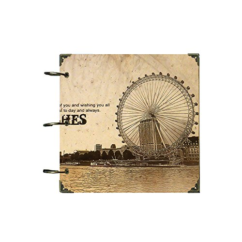 ToiM Nostalgic Theme DIY Photo Album Wedding Anniversary Scrapbook Family Friends Memory Book Sticky Pages Scrapbooking (Ferris Wheel) ()