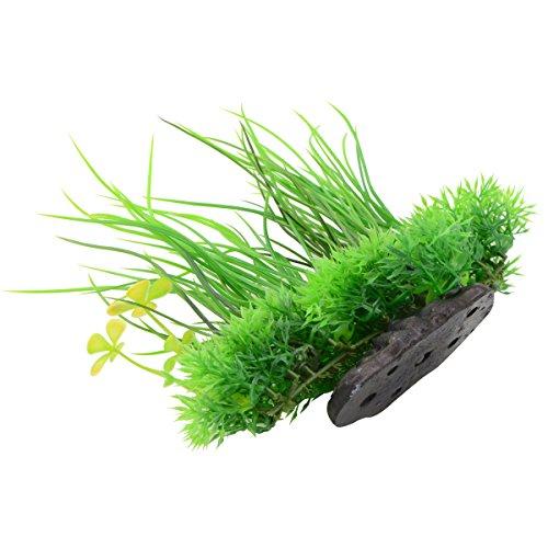 Picture of Saim Plastic Artificial Aquarium Long Leaf Plant Decor Fish Tank Ornament Green Yellow 7.9