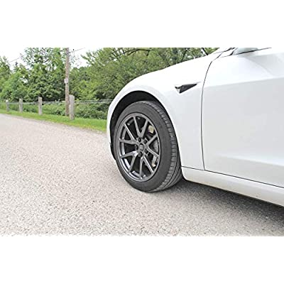 Aero Wheel Cap Kit for Tesla Model 3 - Full Set (4 Center Caps & 20 Lug Nut Covers): Automotive