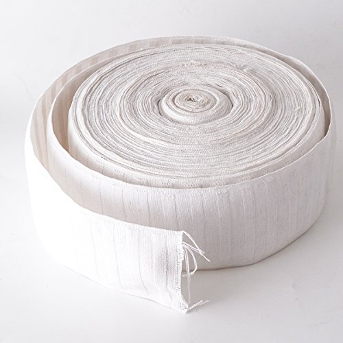 - Curtain Heading Pleat Tape 3.2 inch Natural Cotton with Breathable Performance - 20 yards