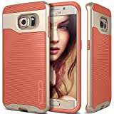 Galaxy S6 Edge Case, Caseology® [Wavelength Series] Textured Pattern Grip Cover [Coral Pink] [Shock Proof] for Samsung Galaxy S6 Edge (2015) - Coral Pink