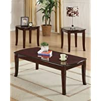 ACME Camarillo Cherry Coffee End Table Set 3 Piece