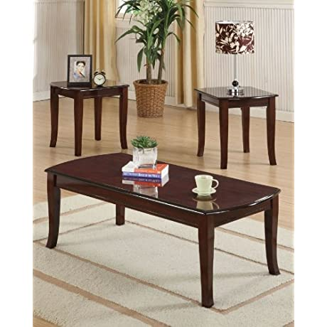 Acme 09301 3 Piece Camarillo Coffee End Table Set Cherry Finish