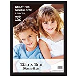 MCS Industries Black Gallery Wood Wall Frame, 12 by 16-Inch